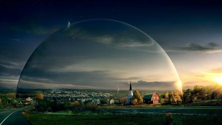 Under the dome cities spheres Wallpaper