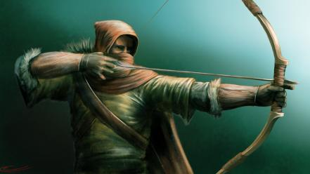 Archers artwork bows fantasy art wallpaper