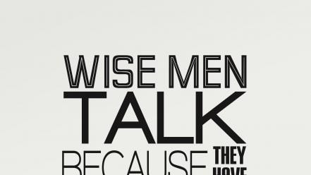 Men quotes text typography wise wallpaper