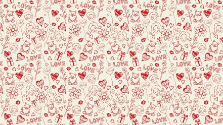 Valentines day hearts love Wallpaper