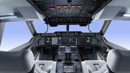Airbus a400m aircraft airplanes cockpit Wallpaper