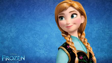 Anna in frozen movie wallpaper