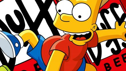 Bart simpson duff beer the simpsons cartoons Wallpaper