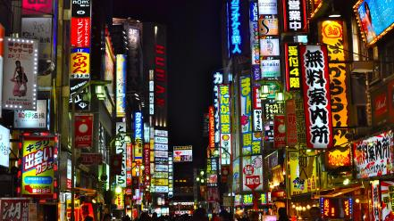 Japan tokyo cities city night japon wallpaper