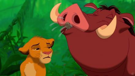 3d disney company pumba the lion king cartoons wallpaper