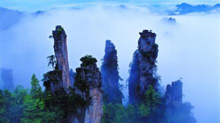 China mount forests mountains wallpaper