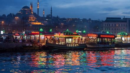 Eminonu istanbul turkey cityscapes wallpaper