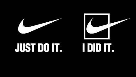 Just do it nike black background brands quotes Wallpaper
