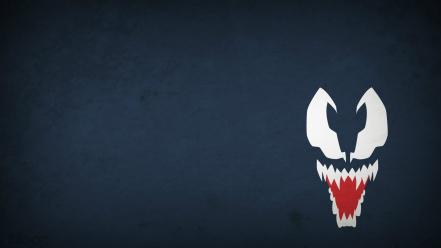 Marvel comics venom blo0p blue background minimalistic Wallpaper