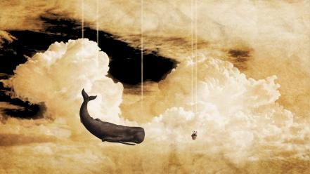 To galaxy abstract surreal art whale trail wallpaper