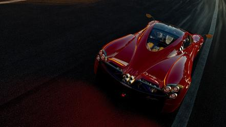 Project cars pagani huayra racing red wallpaper