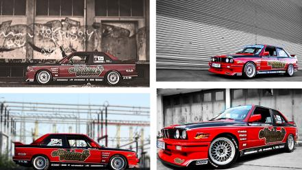 Bmw e30 m3 graffiti red wallpaper