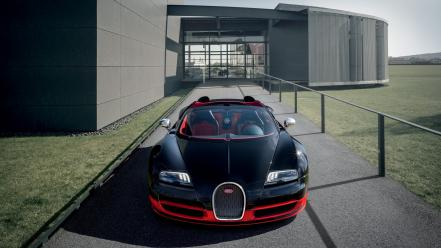 Bugatti veyron grand sport black cars front wallpaper