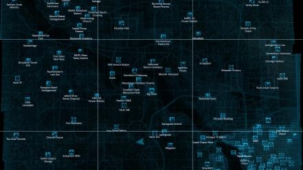 Fallout 3 maps pip boy video games wallpaper