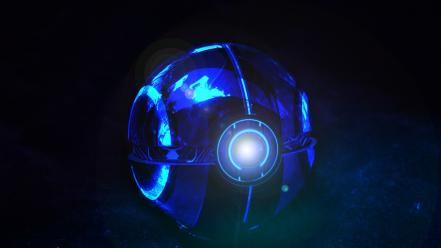 Poke balls pokemon tron abstract digital art Wallpaper