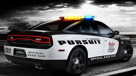 Cars track dodge charger police cruiser pace car wallpaper