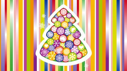 Christmas Tree Colorful wallpaper