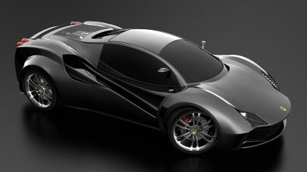 Ferrari Black Concept Wallpaper