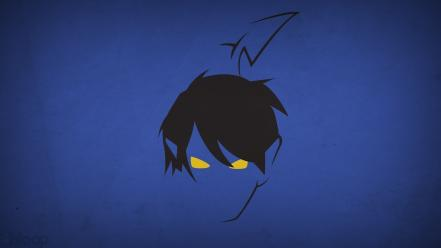 Minimalistic x-men superheroes nightcrawler blue background blo0p wallpaper