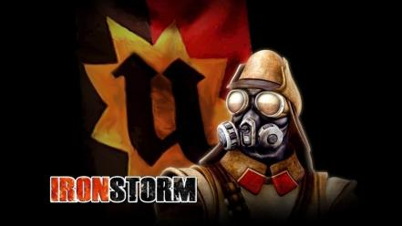 Soldiers storm gas masks iron wars wallpaper