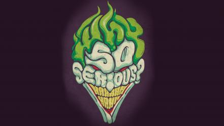The joker artwork why so serious? wallpaper