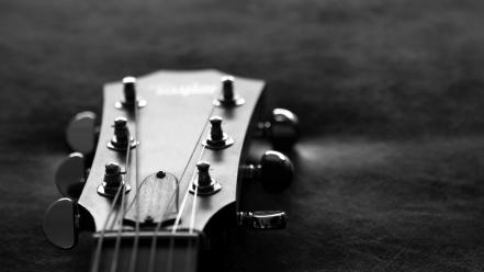 Acoustic guitars monochrome music wallpaper