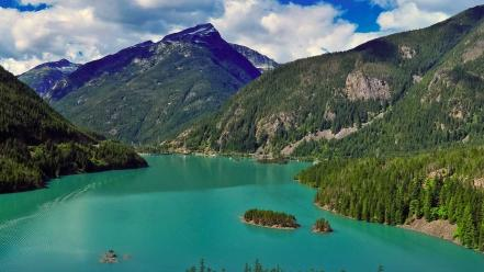 British columbia washington state clouds forests green wallpaper