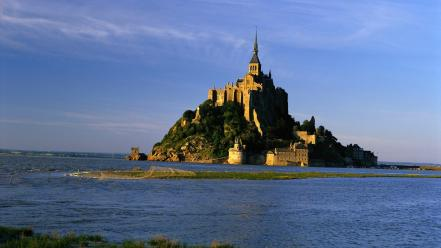 France french mont saint-michel architecture Wallpaper