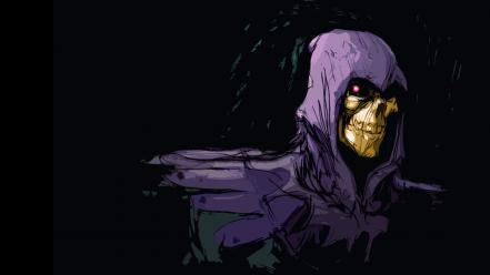 Skeletor black background fan art wallpaper