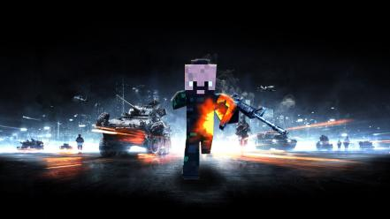 Battlefield 3 minecraft wallpaper