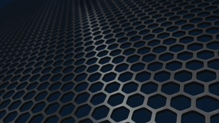 Solaris blue grid hexagons wallpaper
