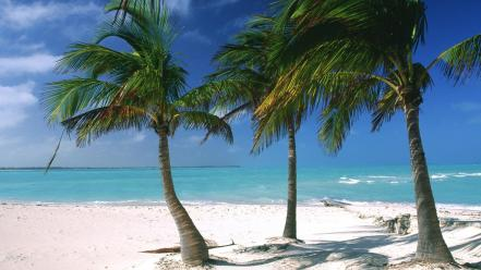 Bahamas caribbean beaches islands ocean Wallpaper
