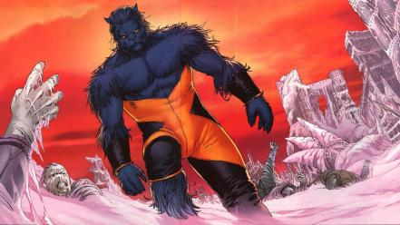 Hank mccoy beast marvel comics xmen hero wallpaper