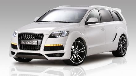 Audi q7 german cars je design suv lights wallpaper