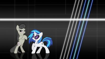 My little pony octavia vinyl scratch backgrounds wallpaper