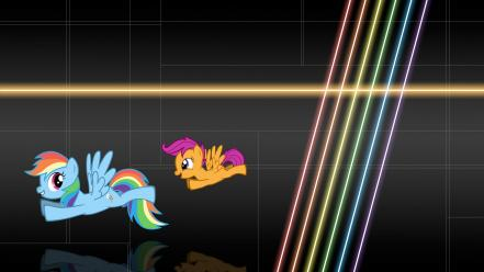 My little pony rainbow dash scootaloo backgrounds Wallpaper