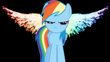 My little pony rainbow dash wings wallpaper