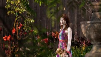 Actress redheads freckles felicia day faces portraits wallpaper