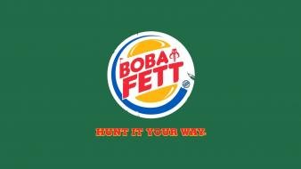Boba fett front parody logos burger king Wallpaper