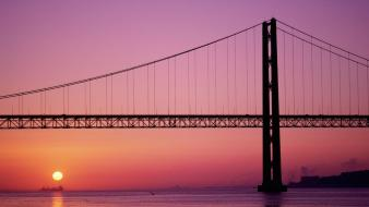 Bridge In Sunset wallpaper