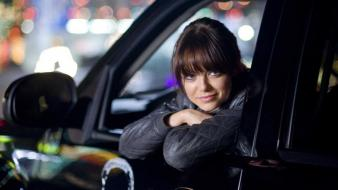 Brunettes women cars emma stone zombieland vehicles wallpaper