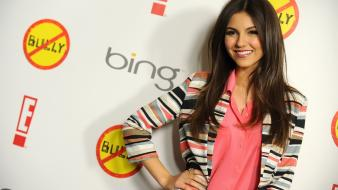 Brunettes women victoria justice long hair celebrity wallpaper