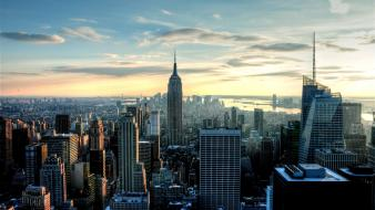 Building skyscapes rockefeller center cities observation deck Wallpaper