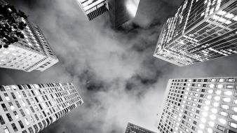 Cityscapes grayscale Wallpaper