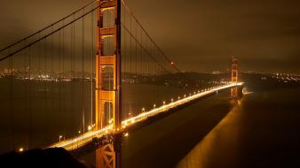 Cityscapes lights bridges golden gate bridge Wallpaper