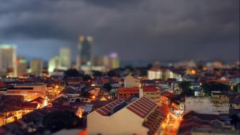 Cityscapes tilt-shift wallpaper