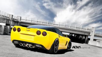 Corvette z06 yellow adv 1 adv1 wheels wallpaper