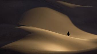 Desert sand dunes wallpaper