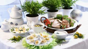 Easter Dishes wallpaper
