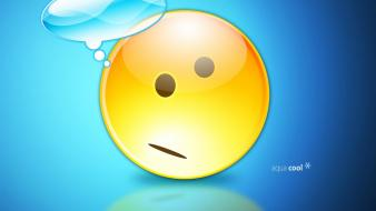 Emoticon Thinking wallpaper